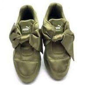 FENTY by RIHANNA PUMA Bow Sneakers OLIVE 9.5